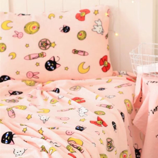 Sailor Moon Usagi Tsukino Luna Bedding Set Futon Cover Air Conditioning Blanket Cushion Pillow Costume