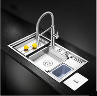 Freesh Deluxe High Quality Kitchen Sink Food Grade 304 Stainless Steel 1 2 MM Thick Manual
