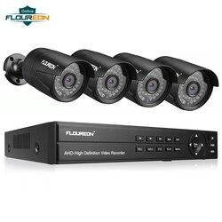 1 pcs 8CH CCTV Macchina Fotografica del Sistema DVR + 4 3000TVL All'aperto IP66 Resistente Agli Agenti Atmosferici 1080 P 2.0MP Video Della Telecamera di Sicurezza di Sorveglianza sistema di