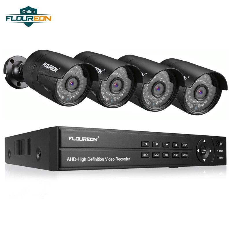 1 pcs 8CH Sistema de CCTV DVR + Câmera 4 3000TVL IP66 À Prova de Intempéries Ao Ar Livre Câmera de Segurança De Vigilância Por Vídeo 1080 P 2.0MP sistema