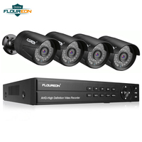 1pcs 8CH CCTV System DVR + 4 Camera 3000TVL Outdoor IP66 Weatherproof 1080P 2.0MP Security Camera Video Surveillance System