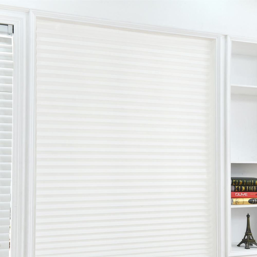 Self Adhesive Pleated Blinds Half
