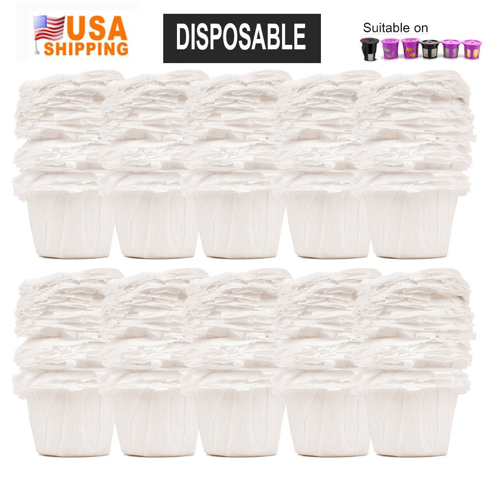 Disposable Paper Coffee Cup 100PCS  Coffee Paper Filters Cups K-Cup Environmental For Keurig 1.0 & 2.0 Coffee Capsule Pots