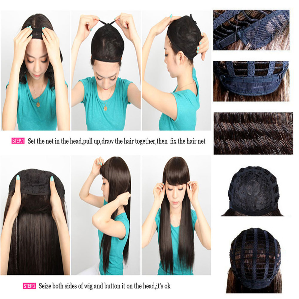 Image 5 - S noilite Synthetic Wigs Long Straight Ombre Wig Heat Resistant Fiber Mint Green Black Roots Wigs for Women Fake Hair-in Synthetic None-Lace  Wigs from Hair Extensions & Wigs