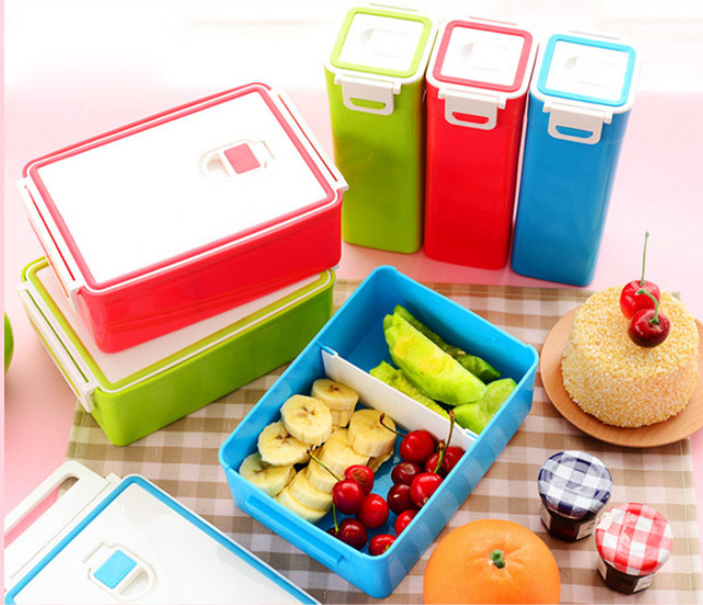 SISTEMA Lunch Salad Boxes Cubes Soup Microwave Sports Drink Bottles BPA