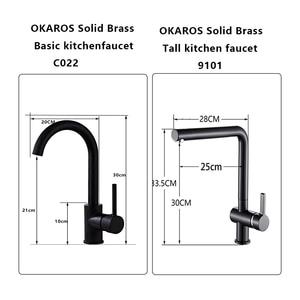Image 5 - OKAROS ก๊อกน้ำห้องครัวทองเหลืองทองเหลืองก๊อกน้ำ 360 องศาหมุนได้อ่างล้างหน้า Vintage Tap Torneira