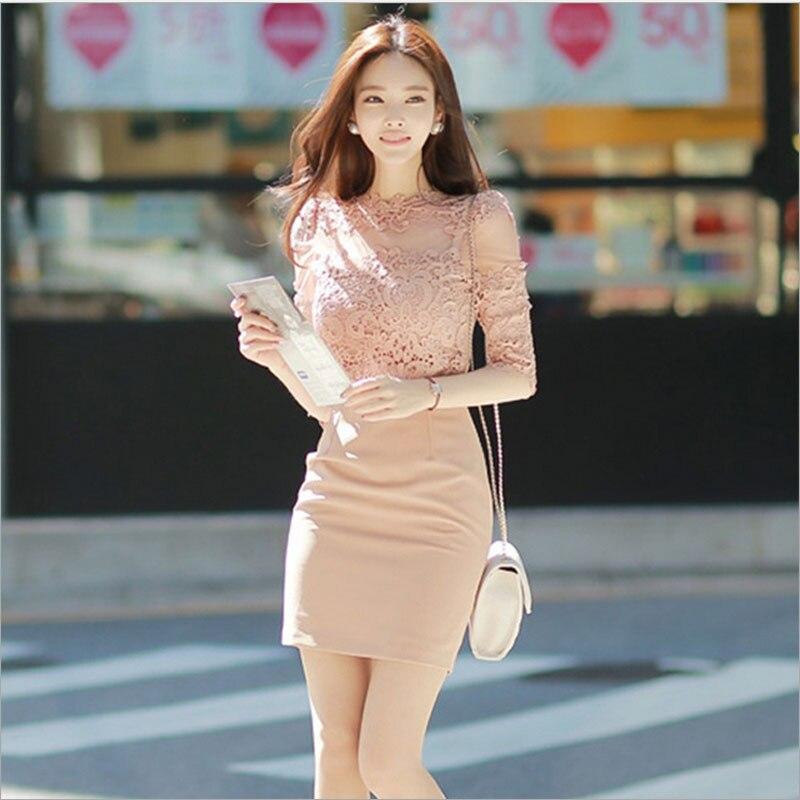 Women Sexy Lace Bodycon Dress 2019 Spring Fashion Lace -3122