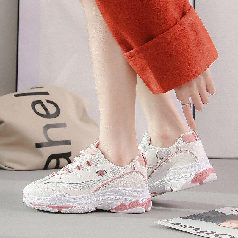 Gilrs Aire Casuales Ulzzang Gran Cielo Gruesa Malla Azul 2019 Zapatillas Zapatos De Suela Plataforma Coreano Mujer rosado Tamaño Estudiantes Women'sshoes wXann7q4