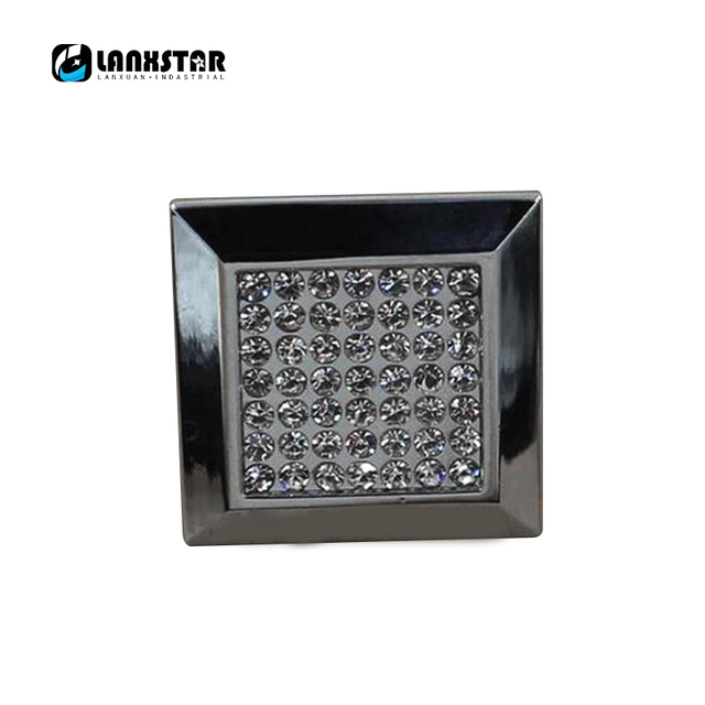 Fashionable Square Style Diamond Crystal Drawer Wardrobe Cabinet Door Handle S