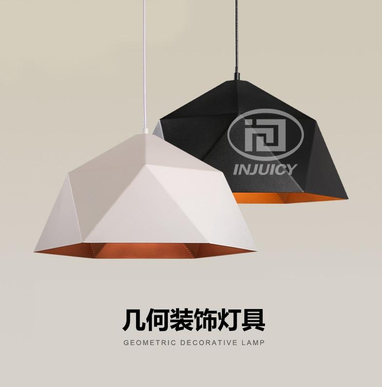 ФОТО LOFT Nordic Iron Diamond Shape Industrial Edison Droplight Creative Simple Retro Geometric Pendant Lamp Restaurant Coffee Shop