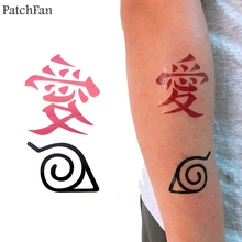 2pcs/set Patchfan Naruto diy Cool Temporary Body Art Tattoo Sticker for Women Men Makeup Shoulder Arm dropshipping A1146