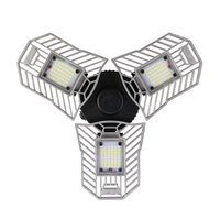 60W E27 Deformable led light Fan shaped foldable High Brightness indoor lamp 2836 led chips Ceiling Light for Garage/Basement