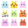 Harajuku Sexy Girls Traje Cosplay Pikachu Pokemon Go/Charmander/Squirtle/Bulbasaur Colheita Tops Vest Regatas Camisa