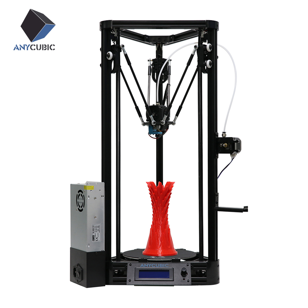 ANYCUBIC Kossel 3D Printer Impresora 3D Auto level Platform Pulley Linear Guide Plus Large Size Desktop