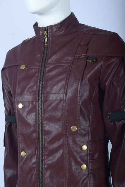 Marvel Superhero Guardians of the Galaxy Star Lord Peter Jason Quill PU Leather Jacket Cosplay Costume Daily Casual Jacket 4