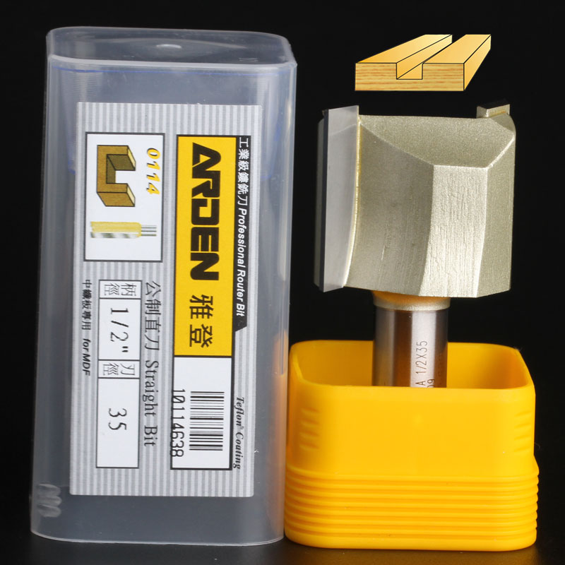 fresas para router Woodworking Tools Metric Flute Straight Bit Arden Router Bits - 1/2*35mm - 1/2 Shank - Arden A0114638 fresas para router woodworking tools 45 deg chamfer arden router bit 1 4 1 4 1 4 shank arden a0209014