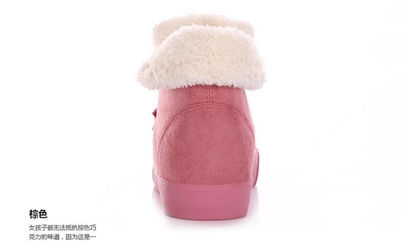 New Women Winter Faux Suede Leather Warm Plush Ankle Boots Autumn Women Shoes Fur Snow Boots Comfortable Running Shoes Sneakers 50