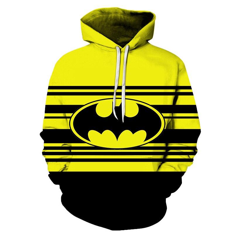 Superman Hoodie Batman Hooded Men Casual Fall / Winter Warm Sweatshirts Men's Casual Tracksuit Costume Hip-hop Hoodies