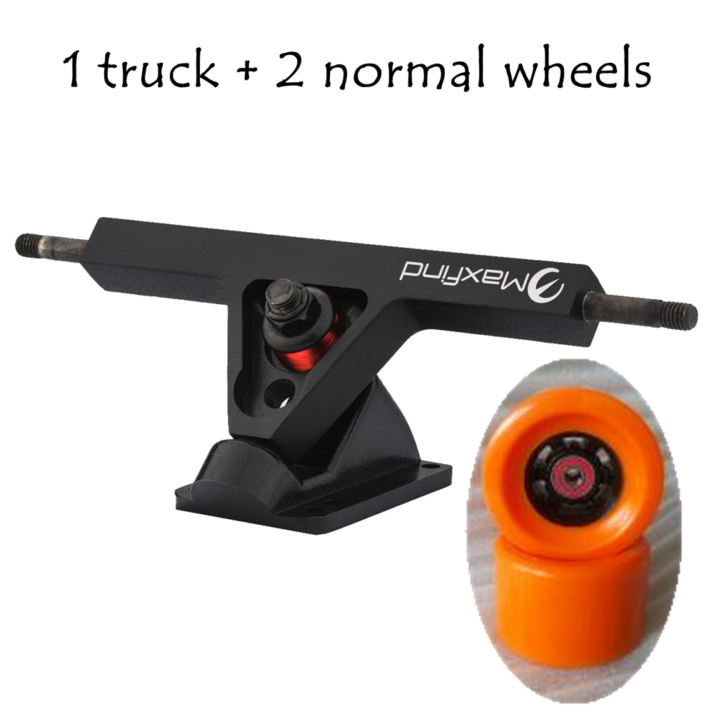 truck and wheels for Portable Mini Skate Board 7'' inches 8-Layers Maple Board, Skateboard can be carries in the backpack bag  50mm 53mm 101a chocolate skateboard wheels made by high density pu 4 wheels for skate trucks parts to set up for the board