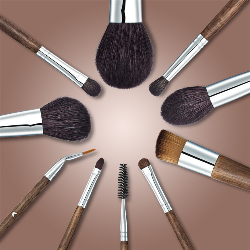 2017 * Best Deal New Professional 10 PCs Makeup Brush Set PowderCosmetic Tool Synthetic Bag makeup brush клей активатор для ремонта шин done deal dd 0365