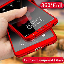 360 Degree Full Case Xiaomi Redmi 5 Plus Redmi 5 5A Mi A2 lite Mi A2 A1 Front Glass + Protective Back Cover Case Xiaomi Mi A1 A2(China)