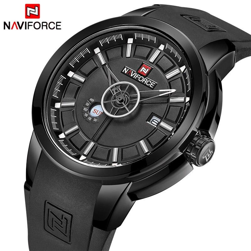 Mens Watches Top Luxury Brand NAVIFORCE Men Waterproof Watches Men's Quartz Date Clock Male Sports Wrist Watch Relogio Masculino