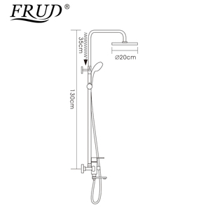 Image 2 - Frud 1Set Bathroom Rainfall Shower Faucet Mixer Tap With Hand Sprayer Wall Mounted Bath Shower system Sets Single Handle R24131
