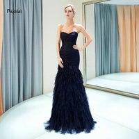 Elegant Mermaid Evening Dresses Long 2018 Sweetheart Floor Length Strapless Formal Dress for Women Party Dress robe de soiree