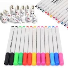 13Pcs/Set Fabric Marker Graffiti Pens Permanent Colors For DIY Textile Clothes T-Shirt Shoes Bag Cloth Painting Crafts