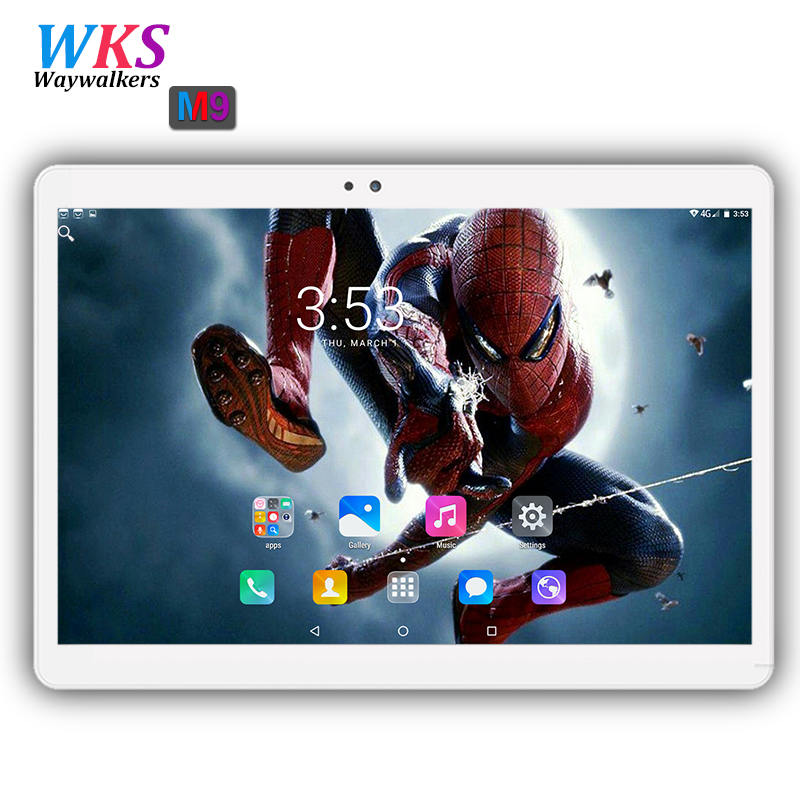 Free shipping 10 inch tablet pc Android 7.0 Octa Core 64GB+4GB Dual Camera Dual SIM 1920*1200 IPS WIFI bluetooth Smart tablets yuntab7 inch quad core q88 1 5ghz android 4 4 tablet pc q88 allwinner a33 512mb 8gb capacitive screen 1024x600 dual camera wifi