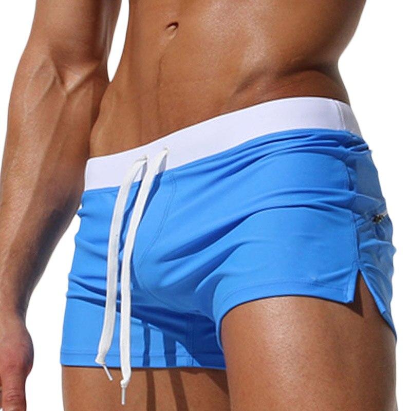 섹시한 남성 수영복 복서 트렁크 브랜드 고품질 - 남성 의류 - 사진 1