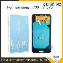Süper Amoled Samsung Galaxy J7 Pro 2017 J730 J730F lcd ekran Ile dokunmatik ekranlı sayısallaştırıcı grup Parlaklık Ayarı