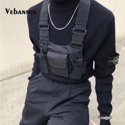 Модная нейлоновая сумка на грудь черная жилетка в стиле хип-хоп Уличная функциональная тактическая сумка на грудь Kanye West Wist
