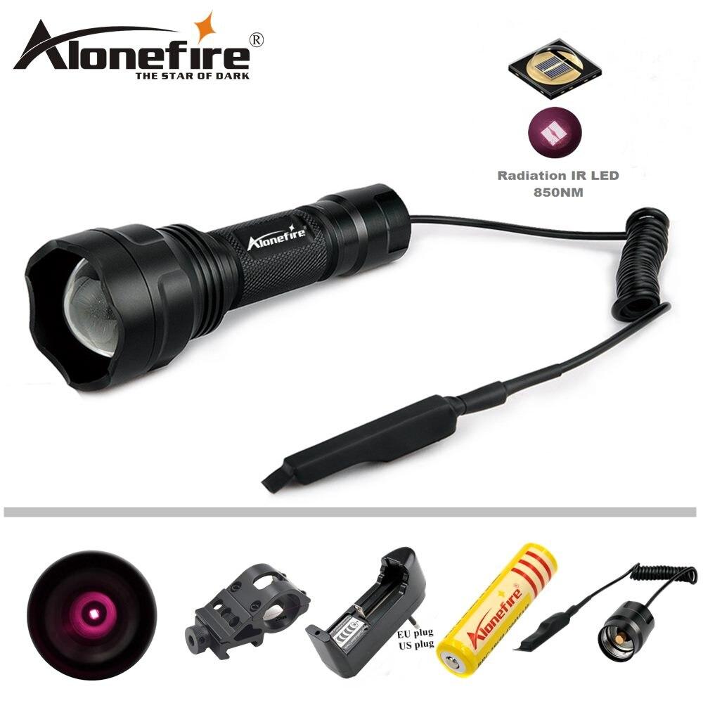 Alonefire x510 5 Вт Портативный Ночное видение масштабируемой ИК 850nm Инфракрасный фонарик зум-объектив светодиодные фонарик