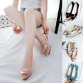 Newest Women's Fashion Casual Flat Slip-on Shoes Metal Decor Elegant Pointed Toe Shoes