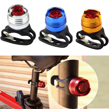 Aluminum Flashlight Bike LED Front Lamp Back Tail Rear Light Bicycle Accessories YS-BUY image