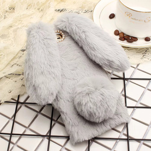 Image 4 - Vonada Plush Case for Wiko Lenny 2 Tommy Robby Harry Cute Rabbit Ears Fur Cover TPU Jewelled Soft Case Cover