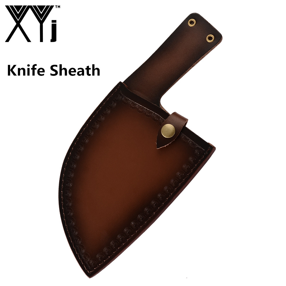 XYj Kitchen Knife Cover Forged High carbon Clad Steel Butcher knife Protect Cover Kitchen Cooking Portable Protective Sheath Kitchen Knives     - title=