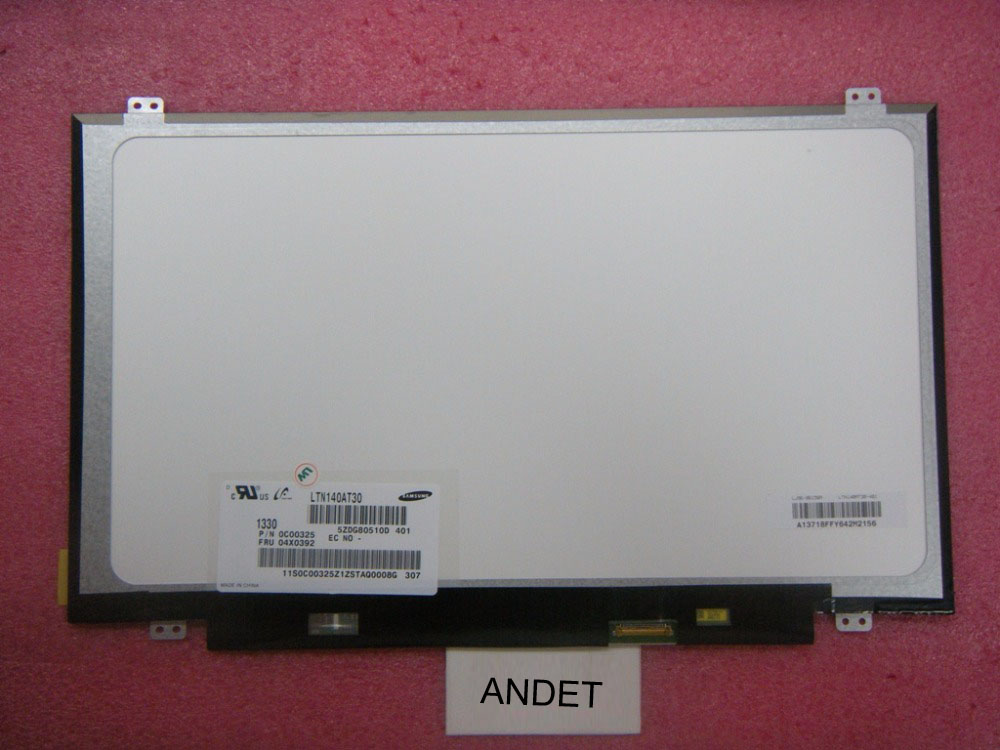 New Original for Lenovo ThinkPad E440 L440 14 HD Lcd Screen Panel 04X0392 LTN140AT30 14 hd original new for lenovo thinkpad e440 l440 full led display 04x0391 0c00324 lp140wh2 tp t1 laptop lcd panels screen