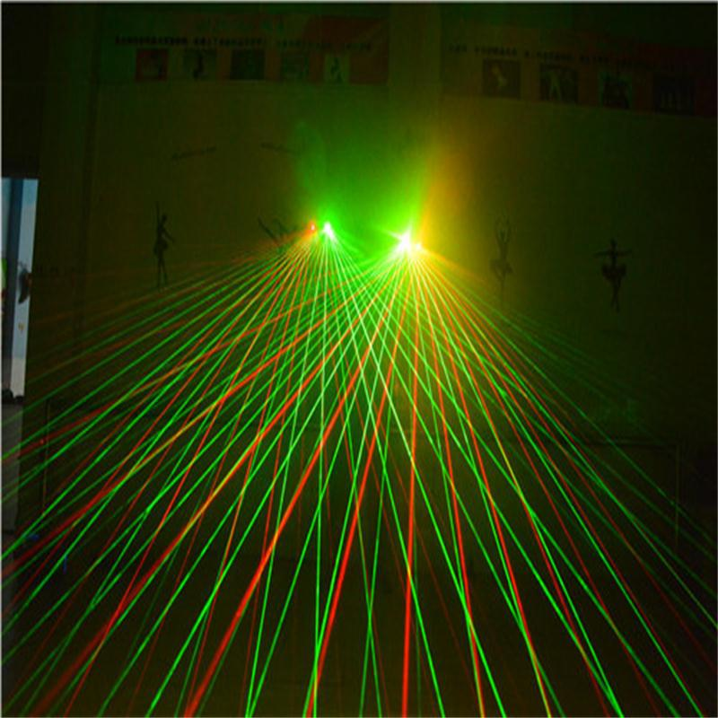 2019 New Laser Gloves Dancing Stage Show Light With 7 Pcs Lasers Luminous Gloves Light For Dj Club Party Bars Colorful