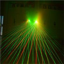 2019 New Laser Gloves Dancing Stage Show Light With 7 pcs Lasers Luminous Gloves Light for DJ Club Party Bars- Colorful