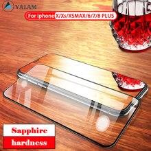 цены на VALAM Full Glue Tempered Glass for iPhone 6 6S 7 8 plus X XR XS MAX Glass on iphone 5 7 6 X 8 Screen Protector Protective Glass  в интернет-магазинах