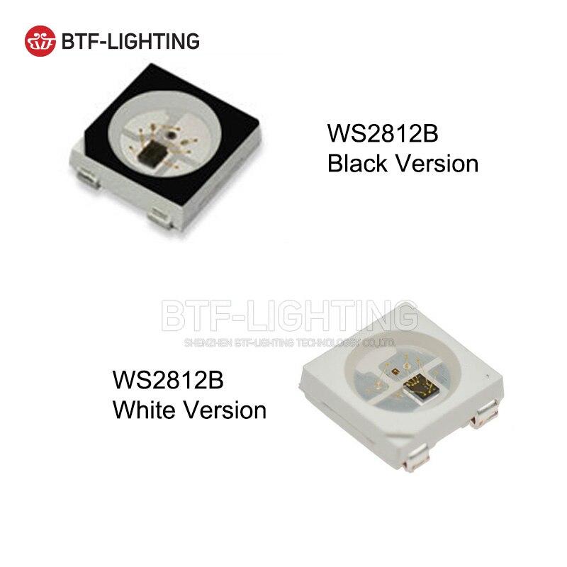 WS2812B светодиодный чип 10 ~ 1000 шт. 5050 RGB SMD черный/белый вариант WS2812 индивидуально адресуемых цифровой 5 В