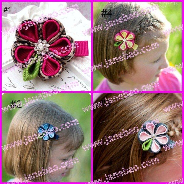 500 шт., заколки для волос с бантиком для девочек, зажимы для цветов, стильный изысканный бант для волос бант в виде насекомого