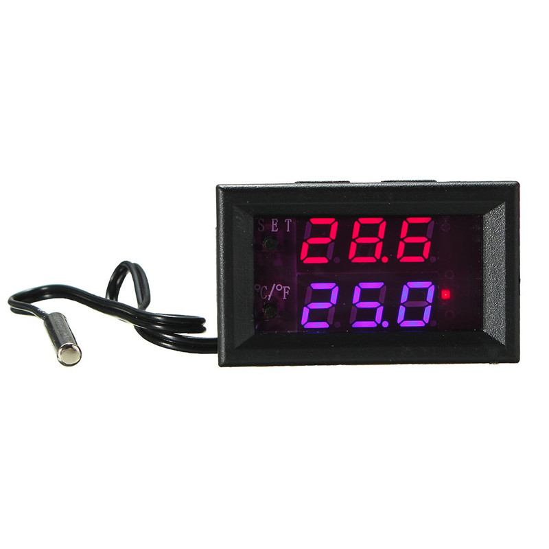 DC 12V Digital LED Temperature Controller Switch Thermostat Control Switch Waterproof Type Sensor Best Price tortoises reptiles temperature controller aquarium thermostat with waterproof sensor