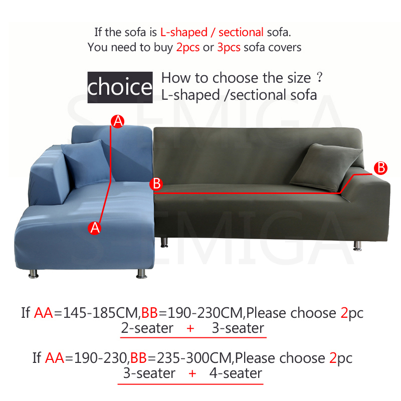 Image 3 - L shape sofa covers spandex for living room gray slipcover stretch sofa chair cover corner sofa couch cover elastic funda sofa-in Sofa Cover from Home & Garden