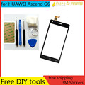 Free DIY Tools+Original New Touch Screen for Huawei Ascend g6 Glass Capacitive sensor for huawei G6 Touch Screen panel Black