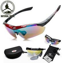 NaturalHome Marca Deportes de Bicicletas Ciclismo gafas de Sol 2016 Hombres Mujeres MTB Bike Gafas de Eyewear de la Lente 5