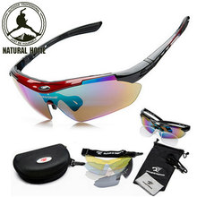 NaturalHome Brand Sports Bicycle Cycling Sunglasses 2016 Men Women MTB Bike Glasses Eyewear 5 Lens