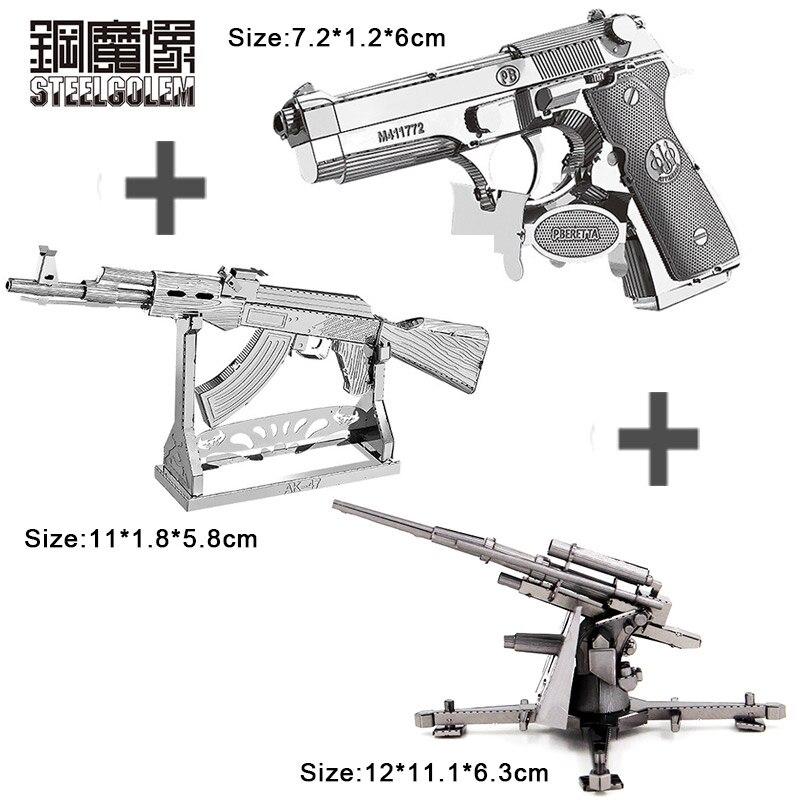 3PCS 3D Metal Model Puzzle DIY Nano Laser Cutting Manual Jigsaw Best Gifts For Adult Kids Collection Educational Decoration Toys manual metal bending machine press brake for making metal model diy s n 20012